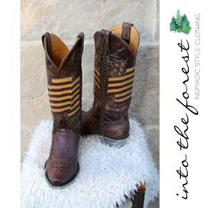 NIB NEW Old Gringo Eleanor Cowboy Boots Brass 7